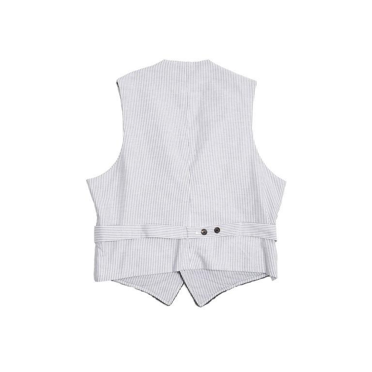 Black Thom Browne Dark Grey Knit Cashmere Vest For Sale