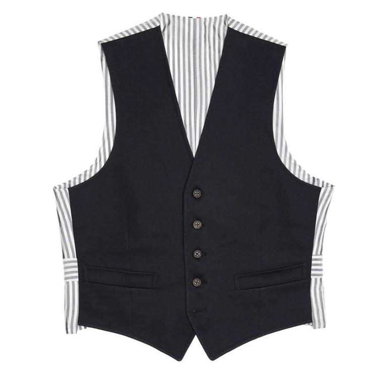 Thom Browne Navy Blue Mackintosh Vest 2