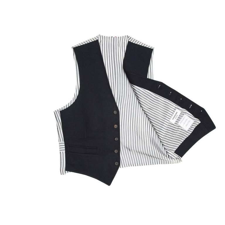 Thom Browne Navy Blue Mackintosh Vest 3
