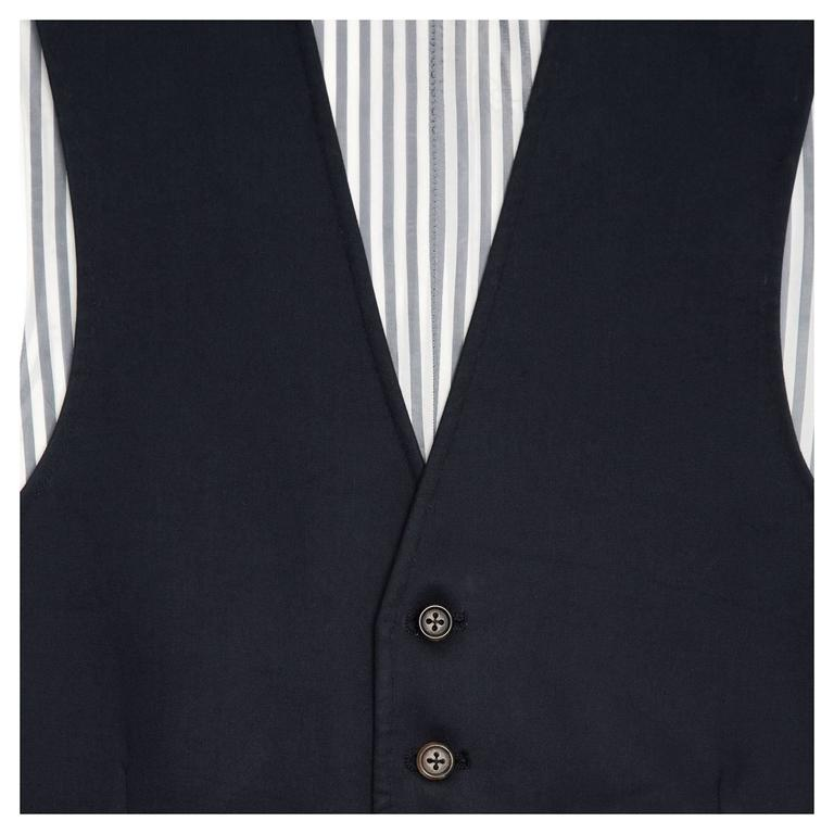 Thom Browne Navy Blue Mackintosh Vest 5