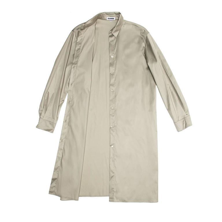 Jil Sander Khaki Cotton Shirt Dress 3