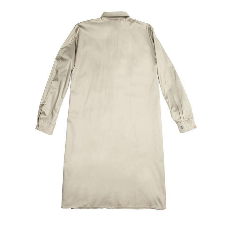 Jil Sander Khaki Cotton Shirt Dress 4