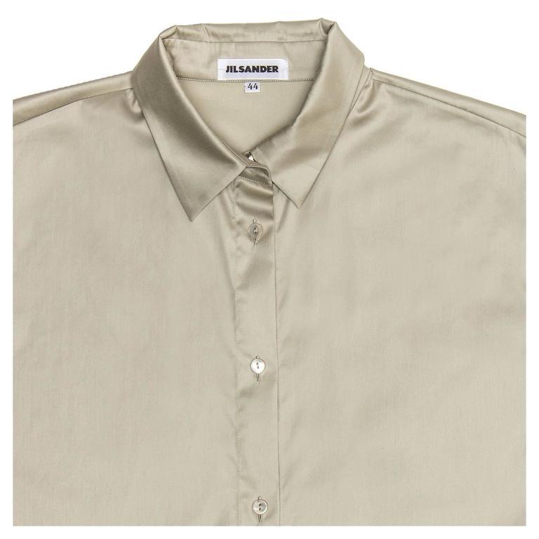 Jil Sander Khaki Cotton Shirt Dress 5