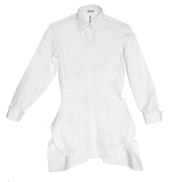 Alaïa White Long Cotton Shirt 2