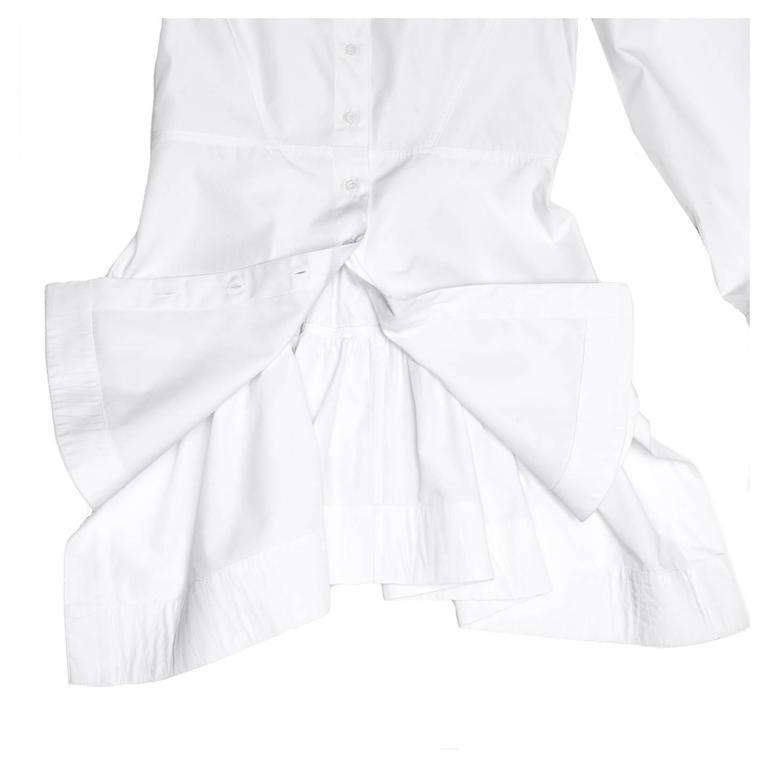 Alaïa White Long Cotton Shirt 5