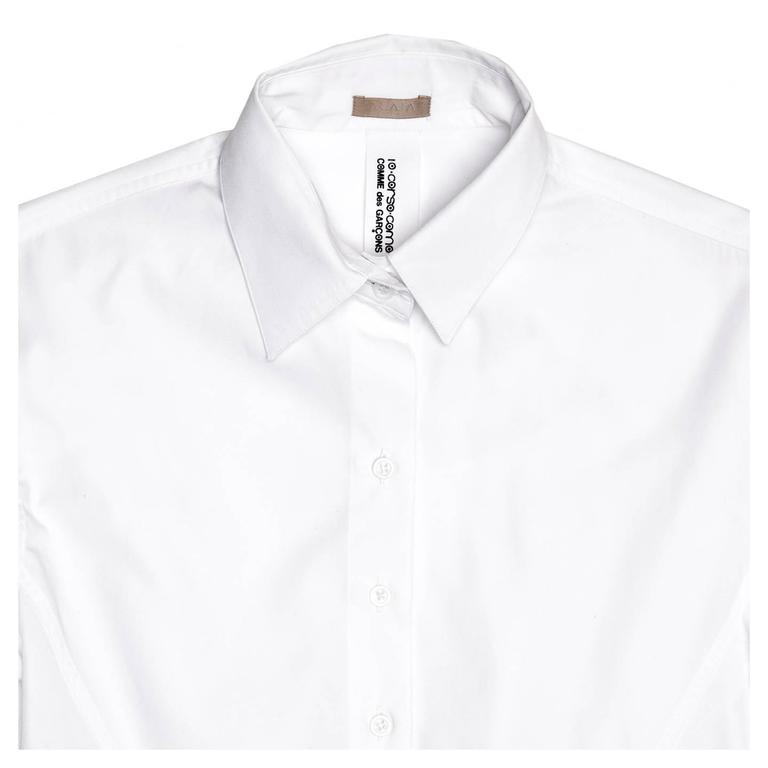 Alaïa White Long Cotton Shirt 4