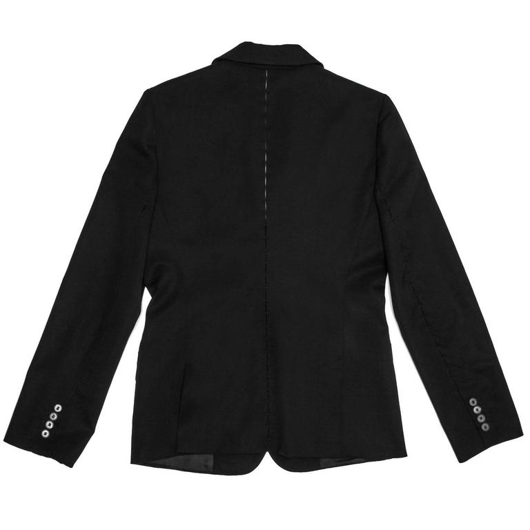 dd01e40b648 ... 2 button closure, flap pockets. Yves Saint Laurent Black Blazer With  Embellished Seams In Excellent Condition For Sale In Brooklyn,