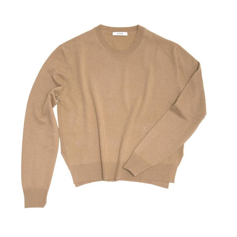 Celine Camel Cashmere Sweater 4