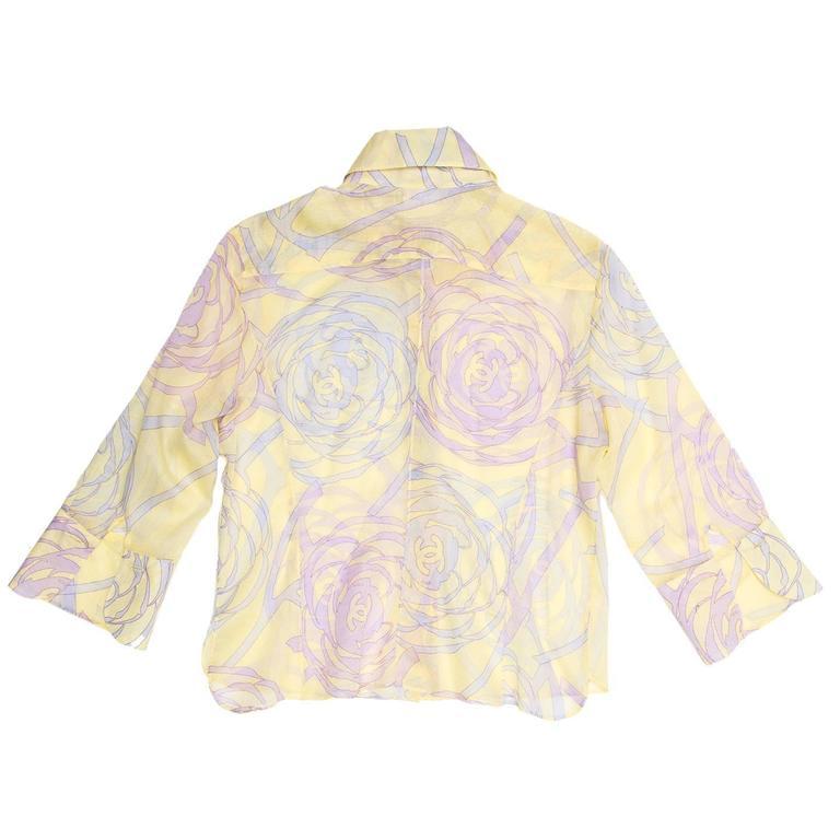 Chanel Multicolor Sheer Cotton Shirt 3