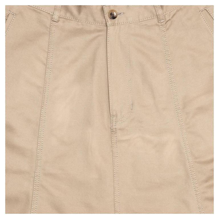 Comme des Garçons Khaki Cotton Dropped Crotch Pants For Sale 1