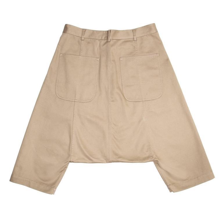 Beige Comme des Garçons Khaki Cotton Dropped Crotch Pants For Sale