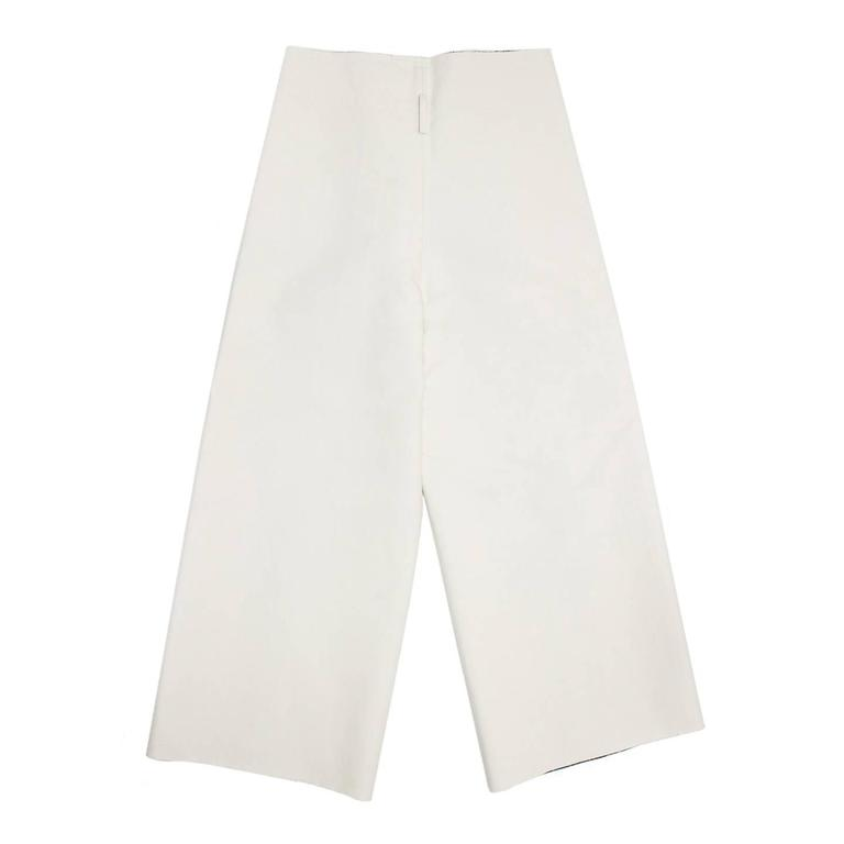Gray Comme des Garçons Ivory Thick Cotton Gaucho Pants For Sale