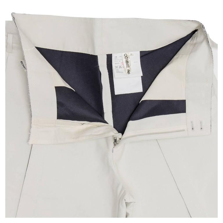 Comme des Garçons Ivory Thick Cotton Gaucho Pants For Sale 1