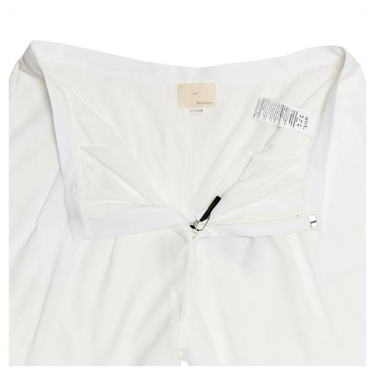 Women's Band of Outsiders White Light Loose Pants For Sale