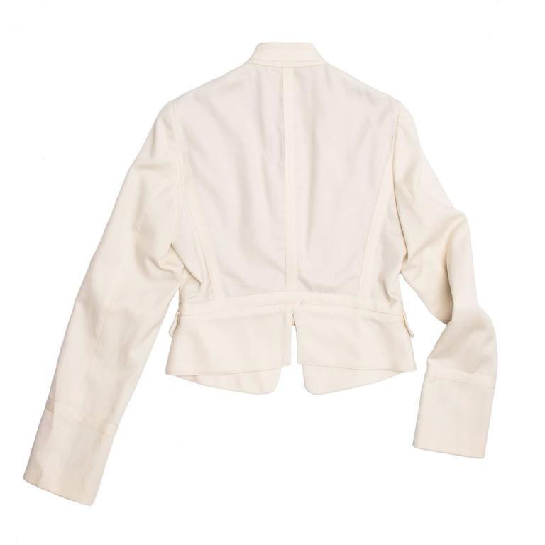 Beige See by Chloe' Cream Bellboy Cut Jacket For Sale