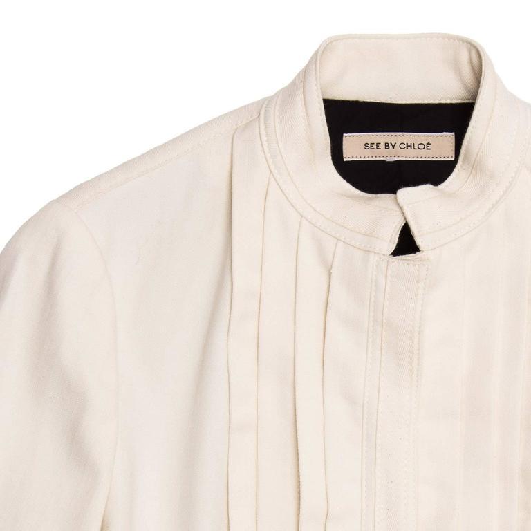 Women's See by Chloe' Cream Bellboy Cut Jacket For Sale