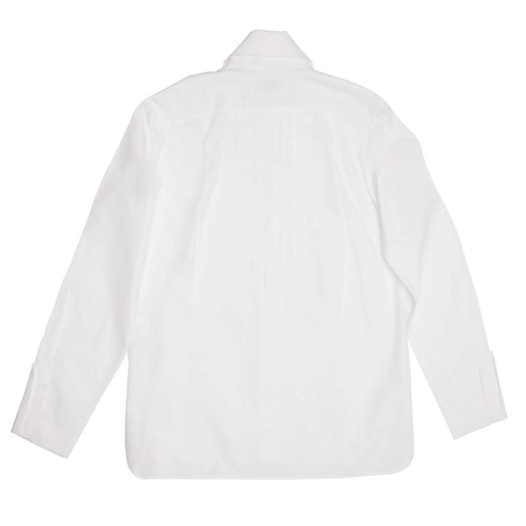 Gray Chanel White Shirt With Bib Made for Men but Worn by Women For Sale