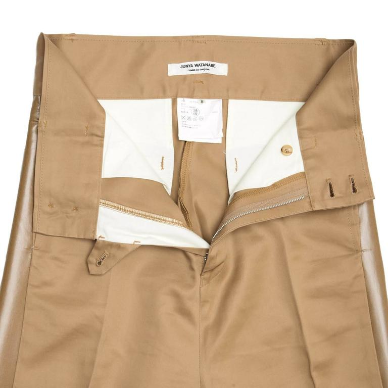 Junya Watanabe Caramel Cotton Baggy Pants For Sale 1