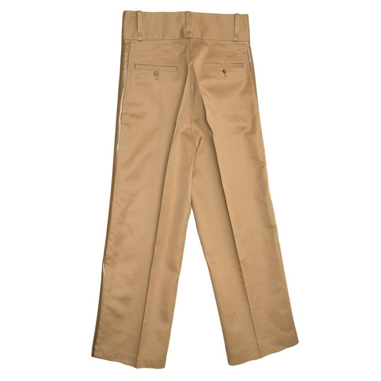 Brown Junya Watanabe Caramel Cotton Baggy Pants For Sale