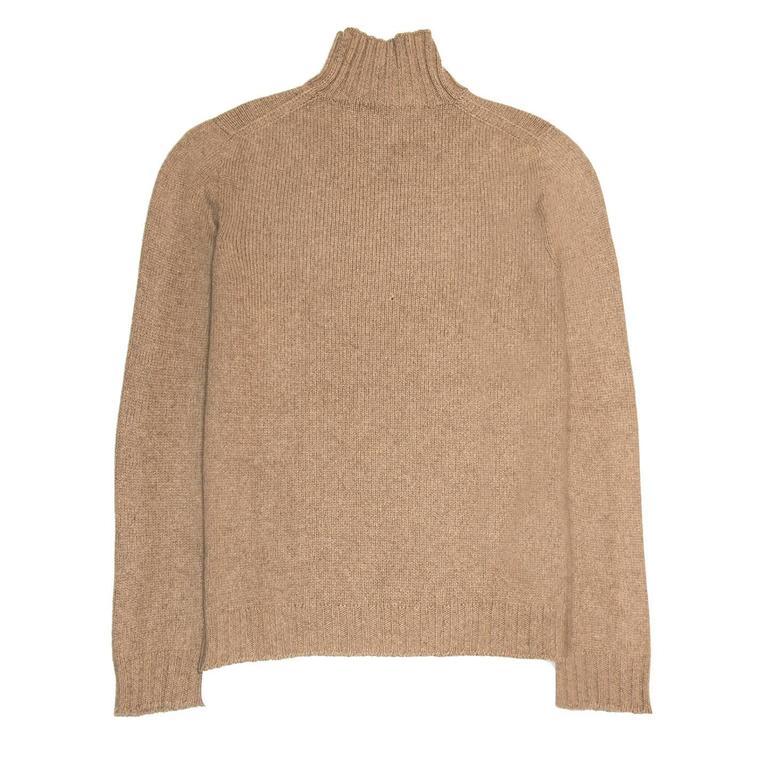 Brown Hermès Camel Cashmere Sweater For Sale