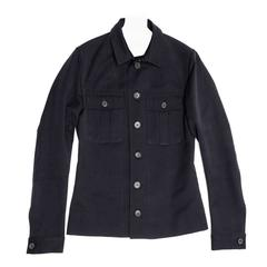 Kinder Fashion Design Navy Cotton Casual Jacket