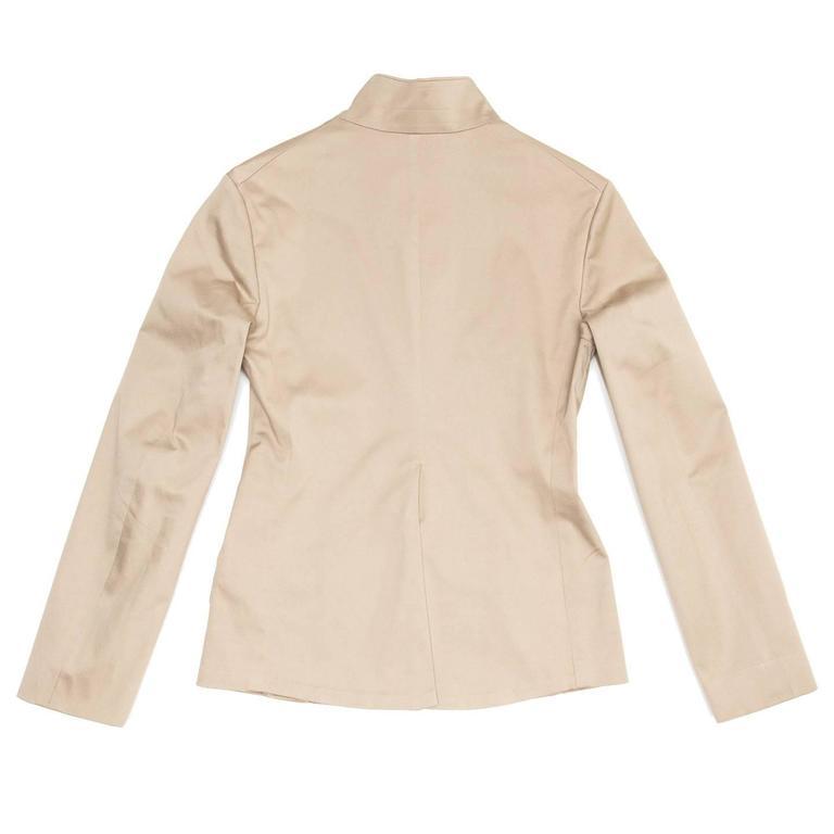 Beige Jil Sander Taupe Cotton Blazer For Sale