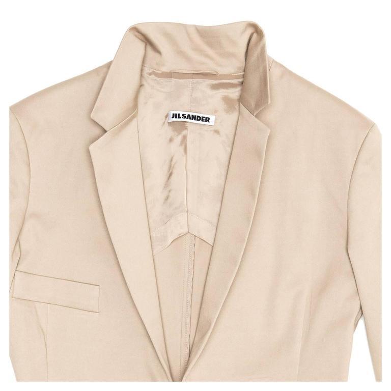 Women's Jil Sander Taupe Cotton Blazer For Sale