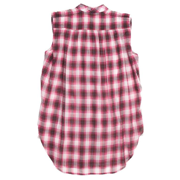 Brown Marc Jacobs Red Plaid Cotton Shirt For Sale