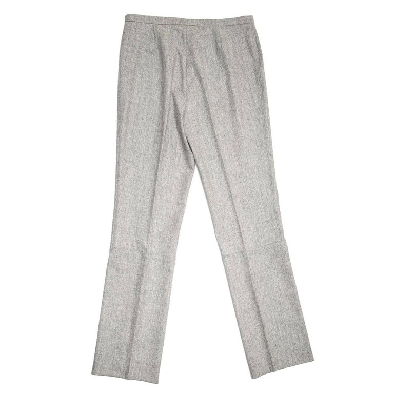 Gray Jil Sander Grey Wool Classic Pants For Sale