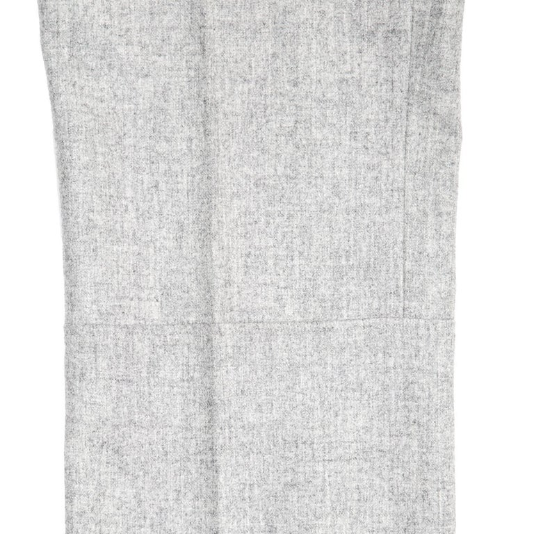 Jil Sander Grey Wool Classic Pants For Sale 2
