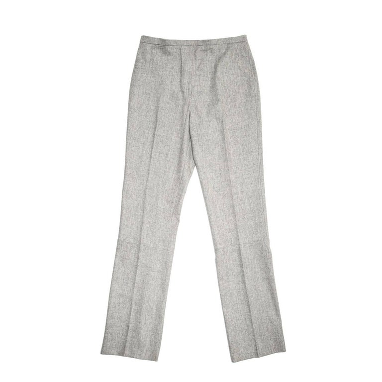Jil Sander Grey Wool Classic Pants For Sale