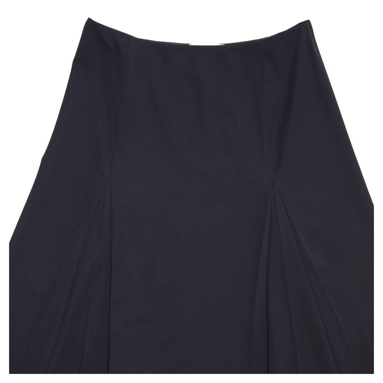 Prada Midnight Blue Wool Skirt In Good Condition For Sale In Brooklyn, NY