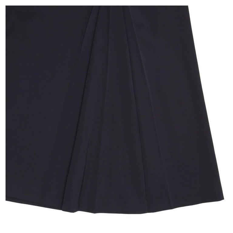 Prada Midnight Blue Wool Skirt For Sale 1