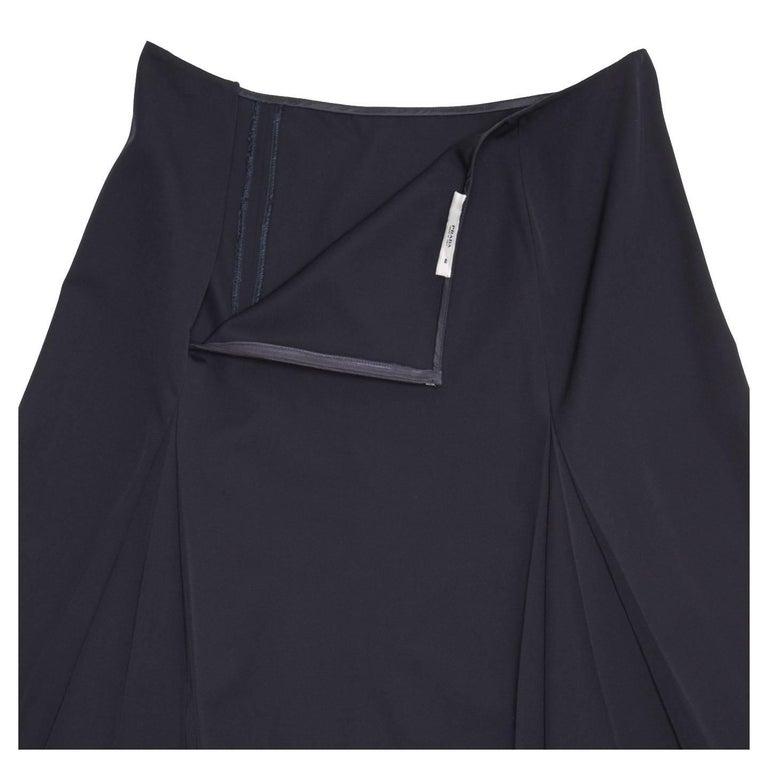 Women's Prada Midnight Blue Wool Skirt For Sale