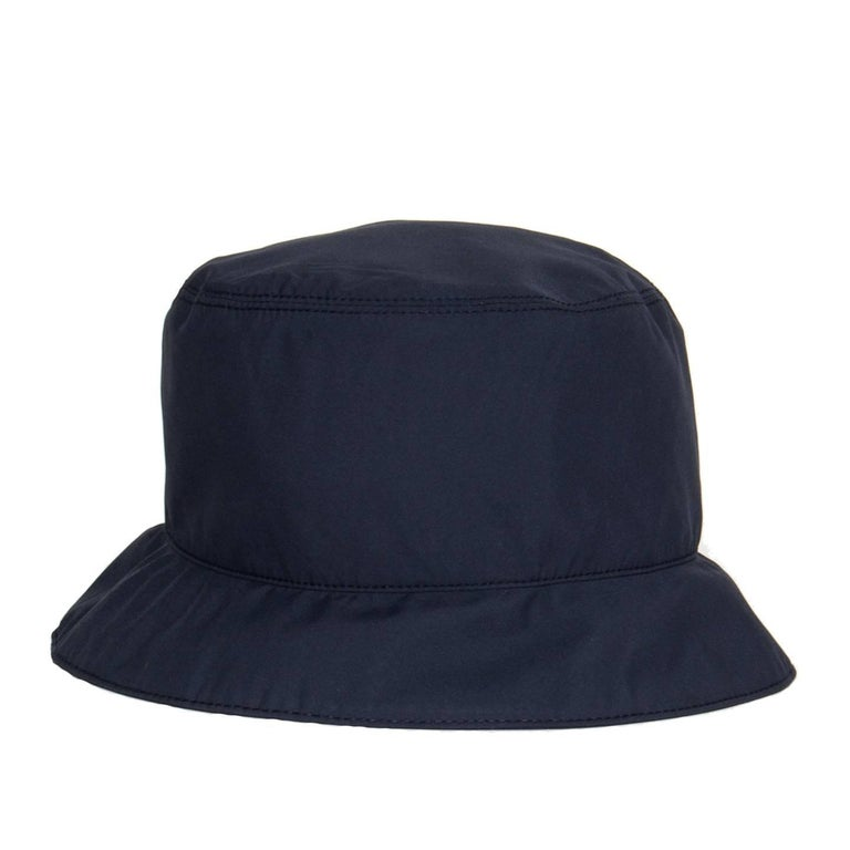 Black Prada Navy Blue Goretex Bucket Cap For Sale
