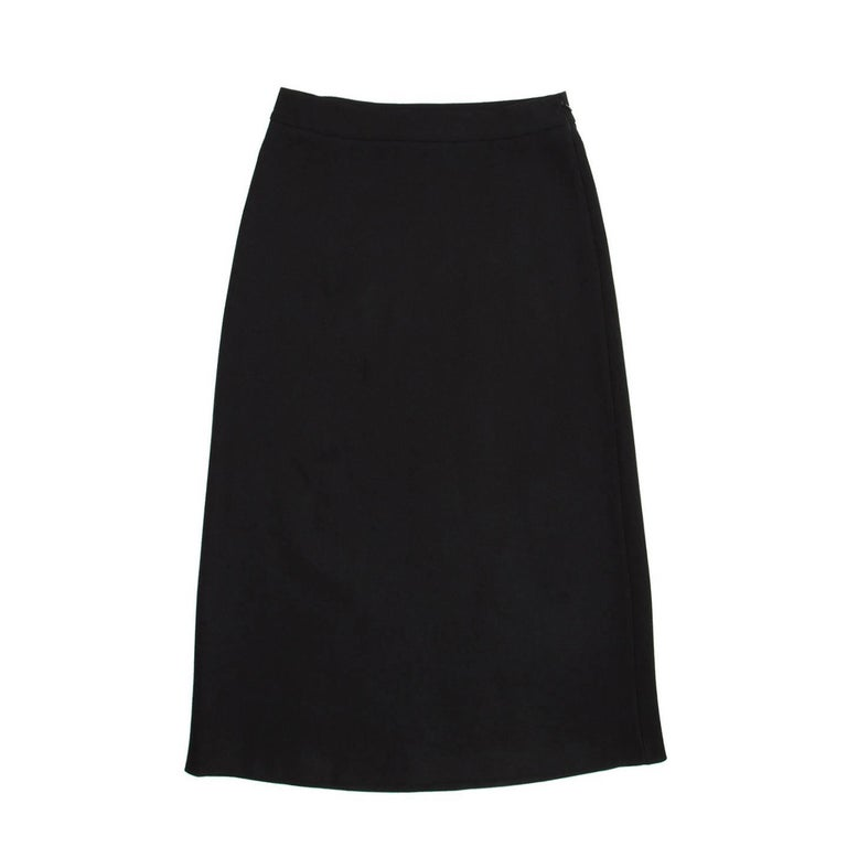 Prada Black Wool A-Line Skirt