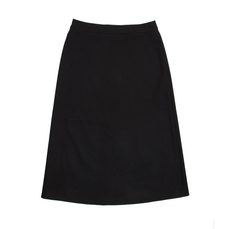 Prada Black Wool A-Line Skirt 3