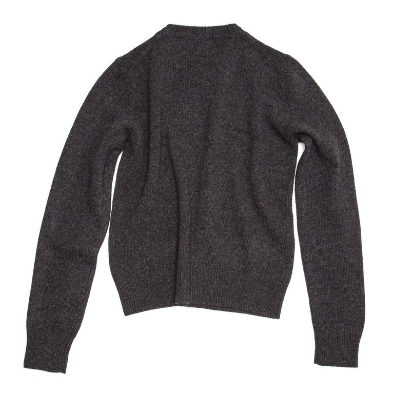 Prada Charcoal Grey Cashmere Sweater For Sale at 1stdibs