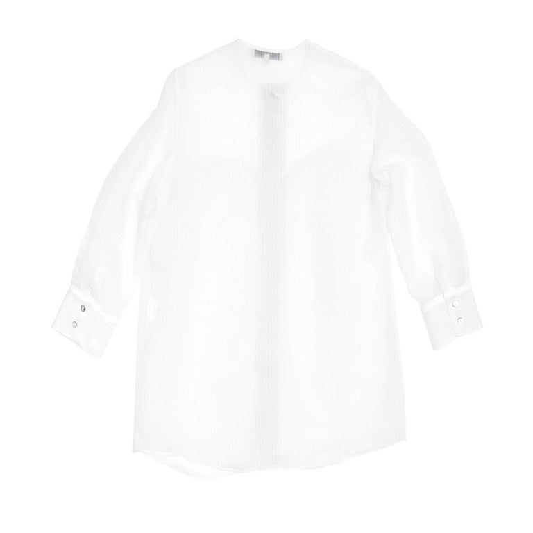 Stella McCartney Ivory & Grey Pin Stripe Shirt 3