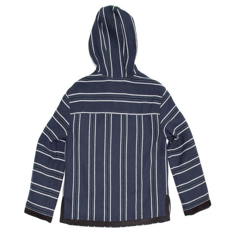 Black Proenza Schouler Blue Striped Hooded Sweater For Sale