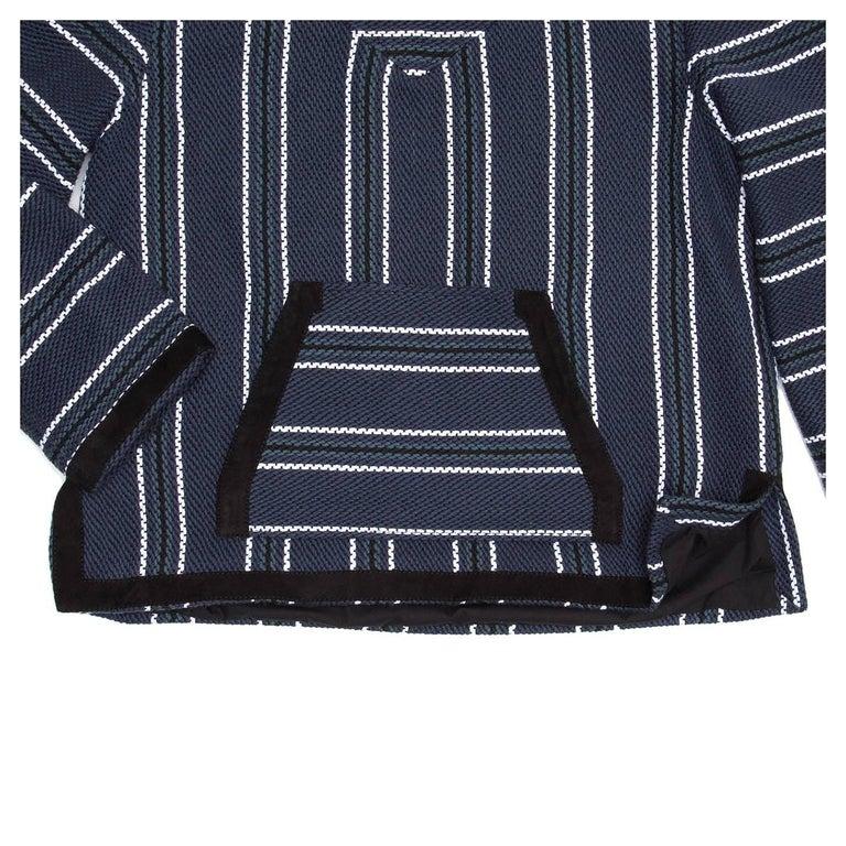 Women's Proenza Schouler Blue Striped Hooded Sweater For Sale