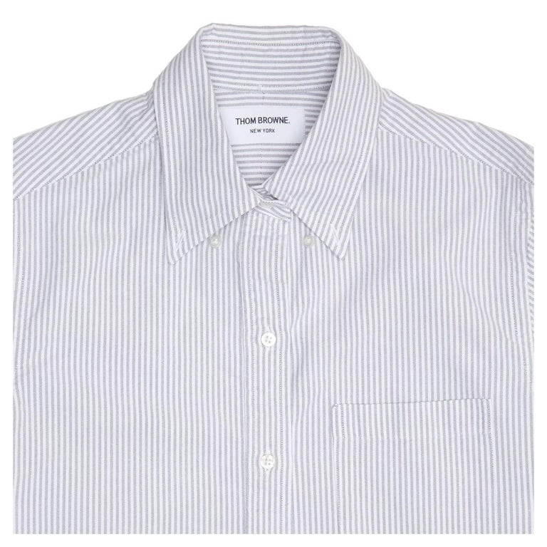 Thom browne blue and white shirt dress for sale at 1stdibs for Thom browne white shirt