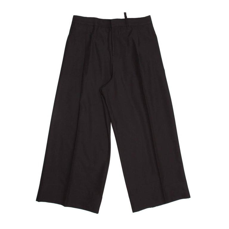 Yohji Yamamoto Black Baggy Wide Legged Pants