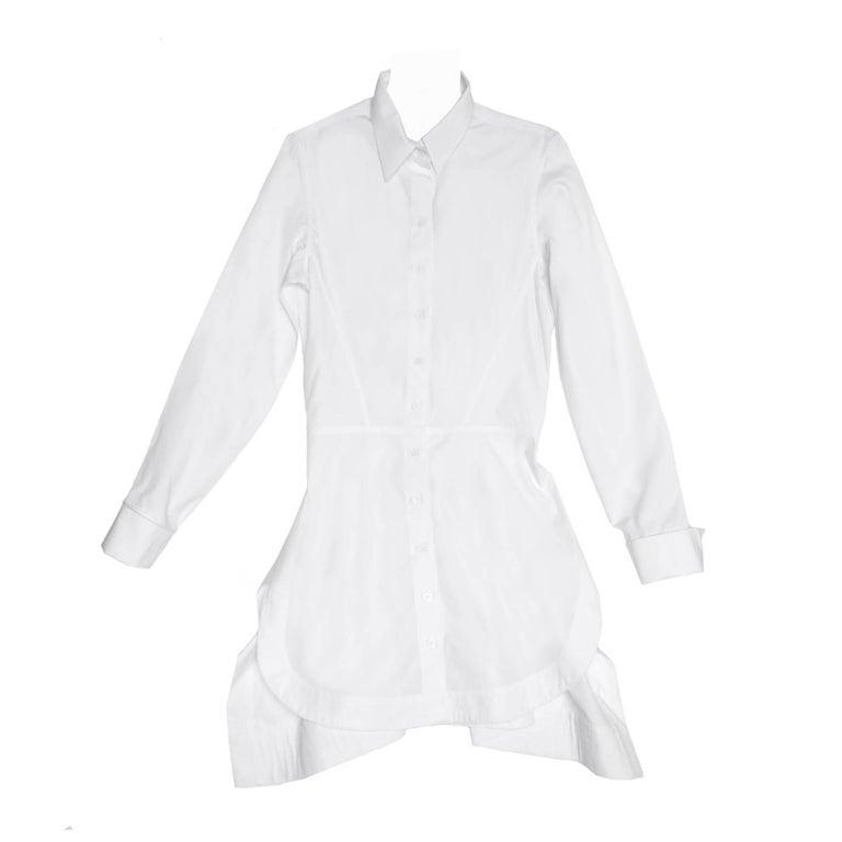 Alaïa White Long Cotton Shirt