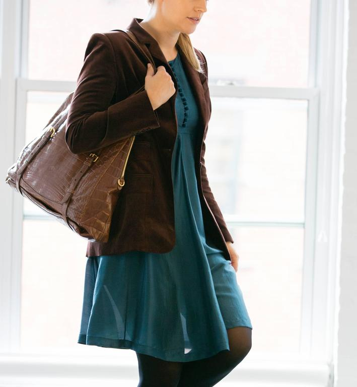 Hermes Silk Teal Tunic Dress 5