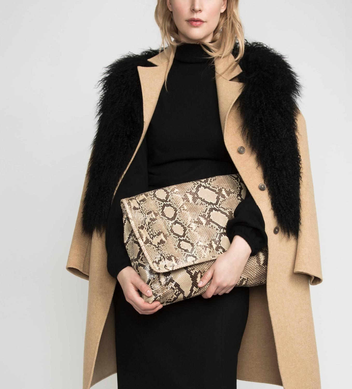 prada designer handbag - prada large suede clutch, prada black nylon handbag