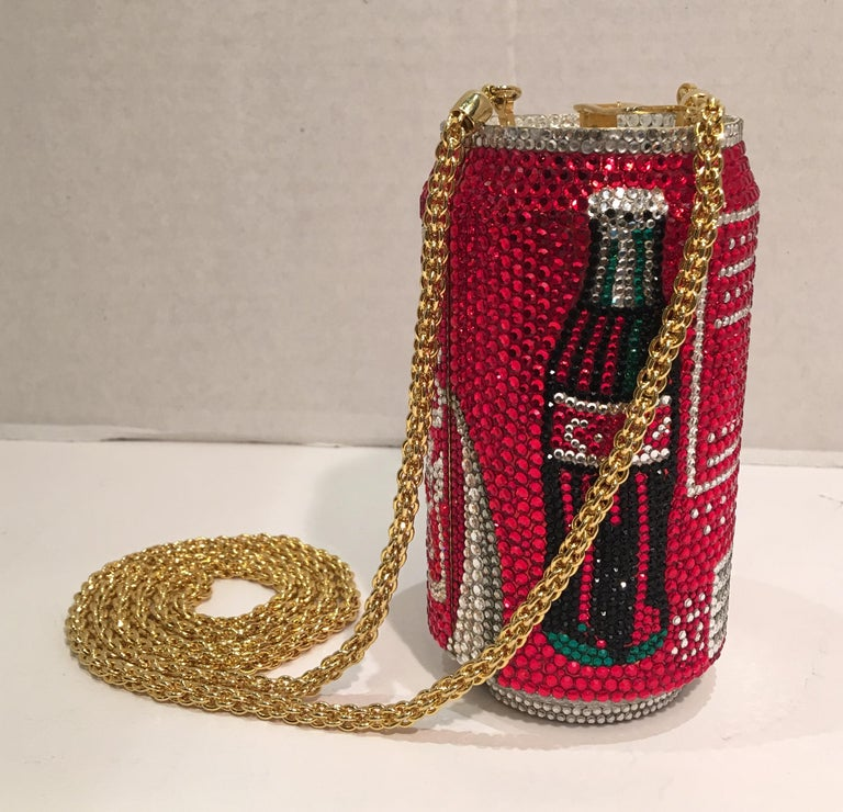 Kathrine Baumann Limited Edition Coca Cola Can Miniaudiere Evening Bag In Excellent Condition For Sale In Tustin, CA
