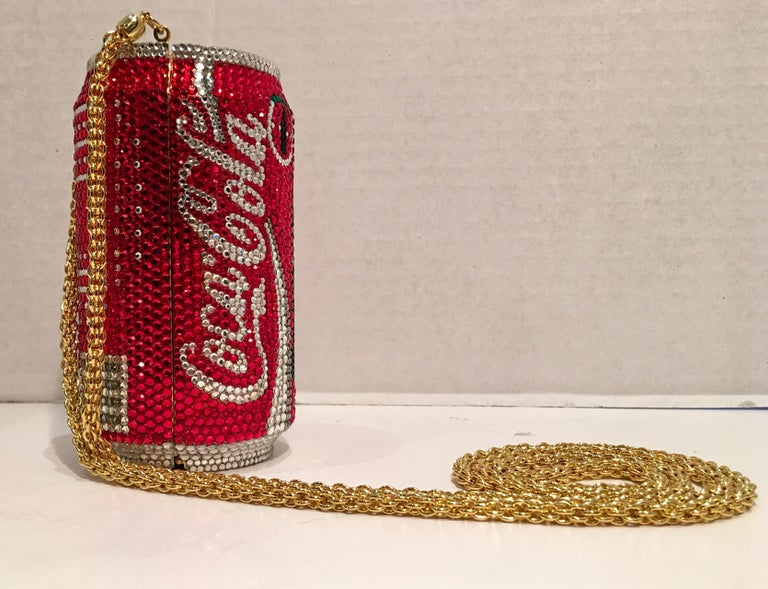 Brown Kathrine Baumann Limited Edition Coca Cola Can Miniaudiere Evening Bag For Sale