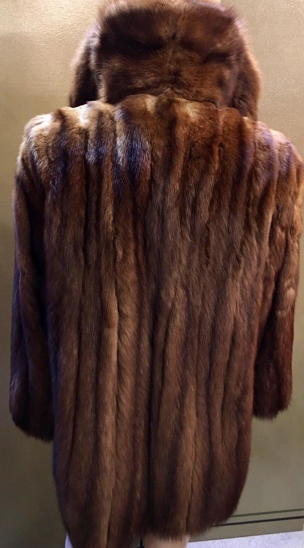 Supreme Opulent Russian Sable Fur Stroller Length Coat For Sale At 1stdibs