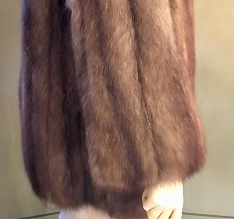 Supreme Opulent Russian Sable Fur Stroller Length Coat  For Sale 2